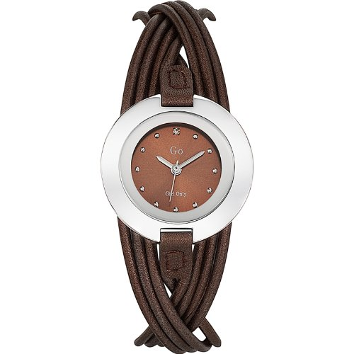 Go girl only 698123–Ladies Watch–Analogue Quartz–Brown Dial–Brown Leather Bracelet