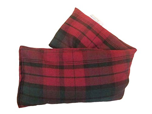 Unscented Microwave wheat bag – UK Made Heat Pack – NON Scent in Plum Tartan Cotton Gift Box