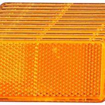 10 x Rechteckrückstrahler orange 90 x 40 MM / Self-Adhesive / with E-Prüfzeichen Seitenstrahler
