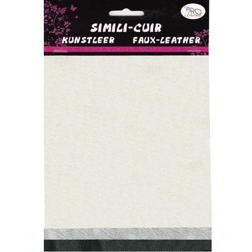 La Fourmi Faux Leather 16x20cm x3 Sheets Pearl/Silver/Hematite