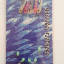 10 Packets mini shrimp mackerel feathers