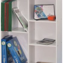 Absolute Deal Multi Tier Wooden Bookcase Display Shelving Storage Unit Wood Furniture, White, W62 x D24 x H80 CM