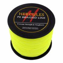 1000m 1094yds Fluorescent Yellow 6lbs-100lbs Hercules Pe Dyneema Braid Fishing Line 4 Strands (90lb/40.8kg 0.50mm)
