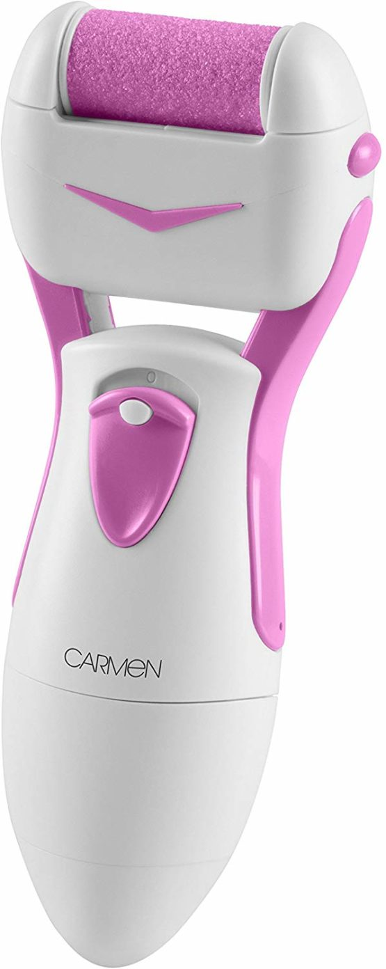 Carmen Pedi Express Roller with Buffing Action – White/Pink