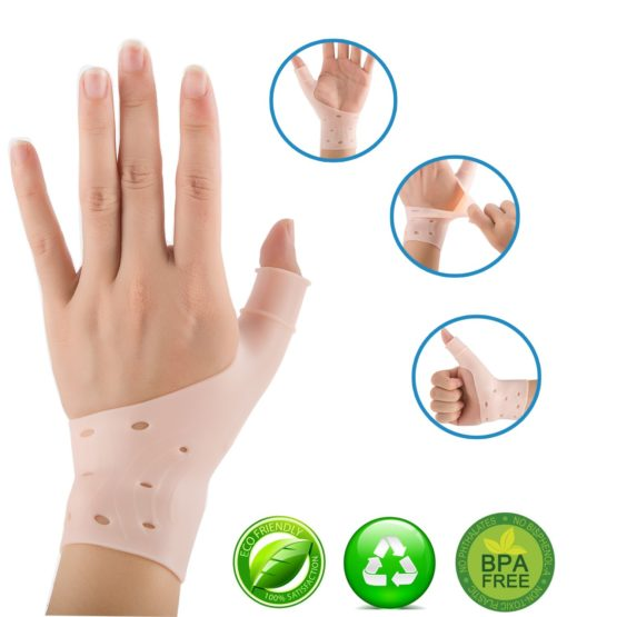 【Upgrade】 Breathable Gel Wrist & Thumb Support Braces for Right & Left Hand | Proven to Relieve Wrist & Thumb Pain Including Arthritis, Rheumatism (2)