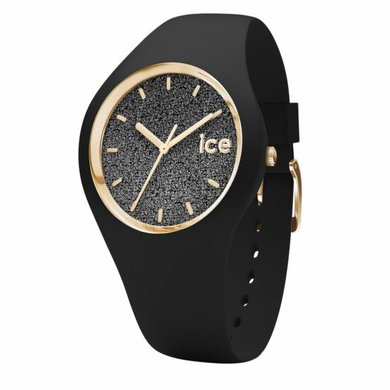 Ice-Watch – Ice Glitter Black – Women's Wristwatch with Silicon Strap
