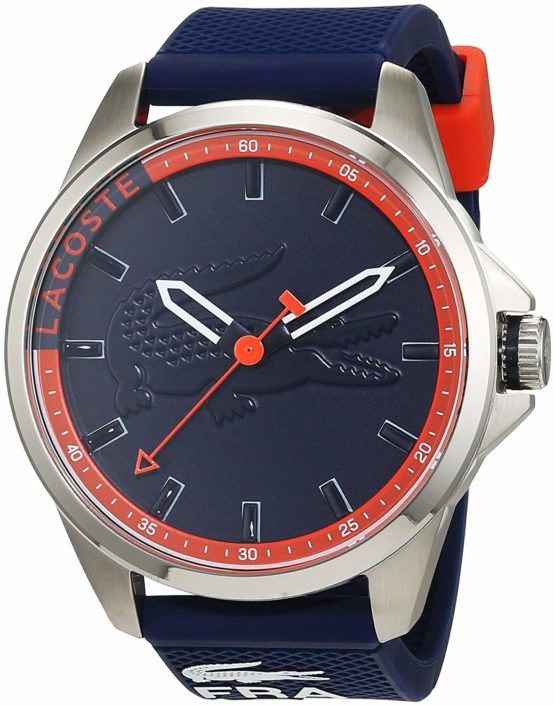 Lacoste Mens Quartz Watch, Analogue Classic Display and Silicone Strap 2010842