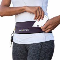 Build & Fitness Running Belt, Flip Waist Belt, Key Clip, Fits iPhone's, Samsung