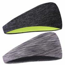 COOLOO 2 Pack Mens Headband, Guys Sweatband Sports Headband for Men Women Unisex, Performance Stretch & Moisture Wicking for Running Work Out Gym Tennis Basketball